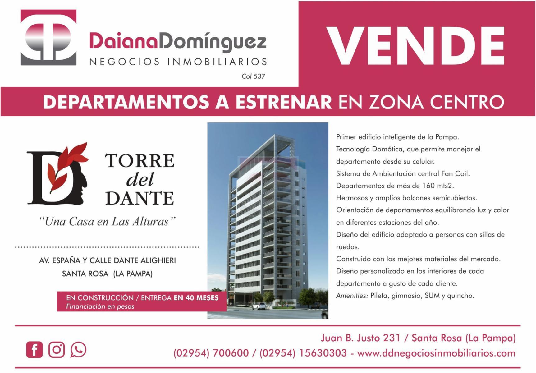 Venta departamentos Torre Dante, DAIANA DOMINGUEZ NEGOCIOS INMOBILIARIOS