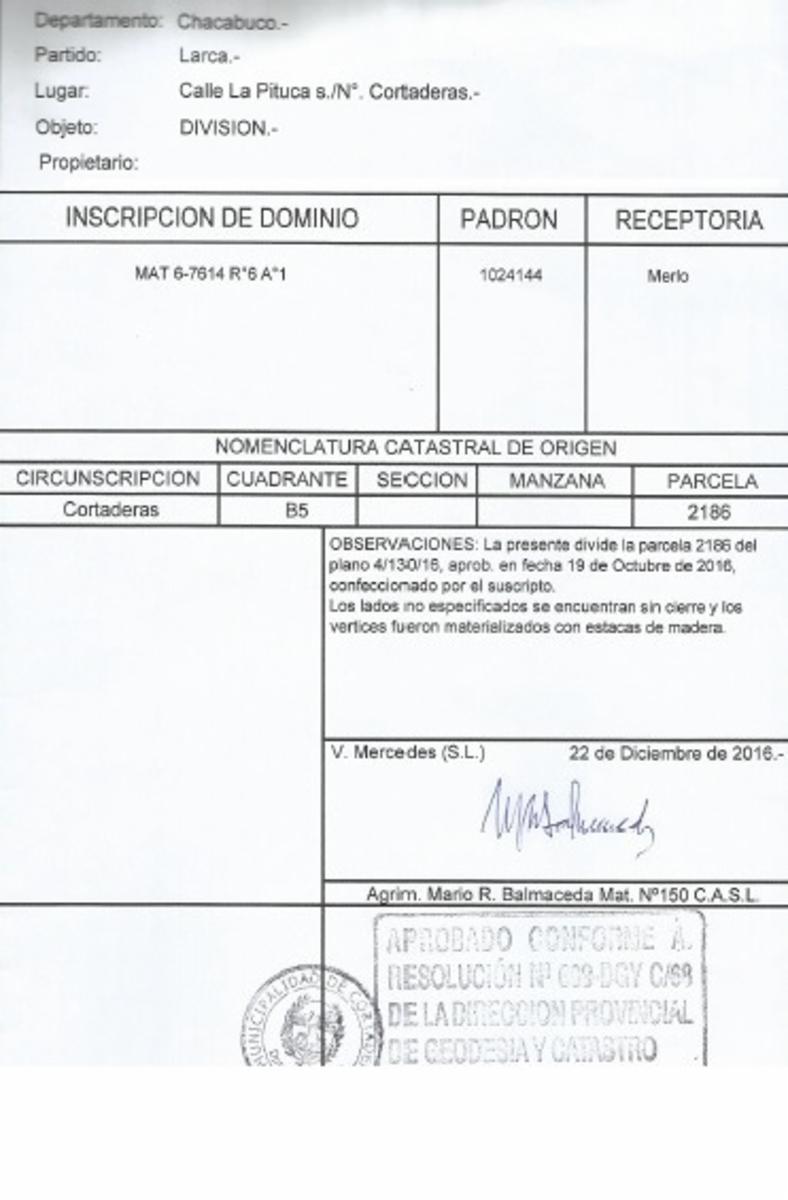 EXPECTACULAR LOTEO LAS CORTADERAS, SAN LUIS. , Guillermo Sanchez Desarrollos Inmobiliarios