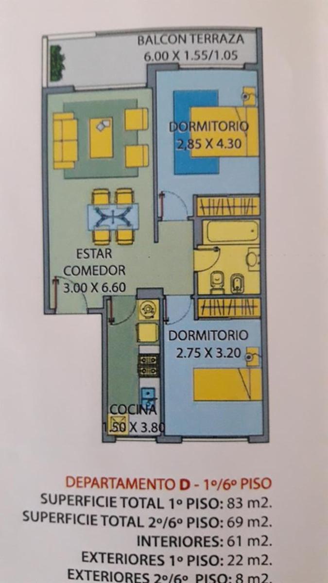 Departamento de dos dormitorios con cochera. , Guillermo Sanchez Desarrollos Inmobiliarios